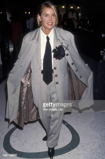Actress Amanda Bearse attending 'Fox TV Fashion Show by Shauna Stein' on November 8 1992 at Jose Eber Salon in Beverly Hills California