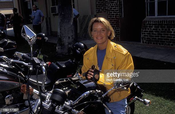 Actress Amanda Bearse attending 'Love Ride 9 Benefit KickOff Ceremony' on August 29 1992 at HarleyDavidson of Glendale in Glendale California
