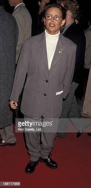 Actress Amanda Bearse attending the world premiere of 'Philadelphia' on December 14 1993 at the Cineplex Odeon Cinema in Century City California