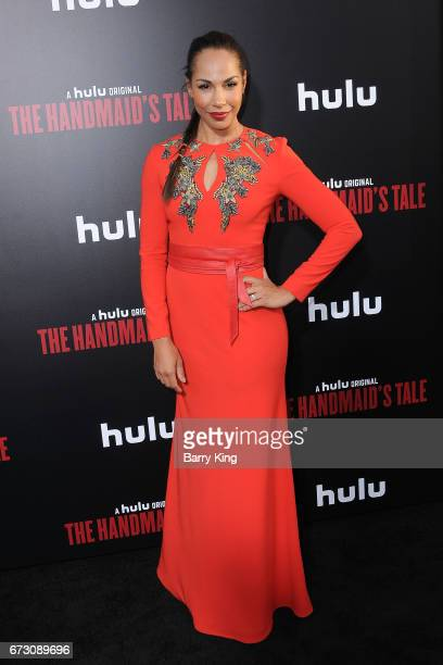 Actress Amanda Brugel attends premiere of Hulu's 'The Handmaid's Tale' at ArcLight Cinemas Cinerama Dome on April 25 2017 in Hollywood California