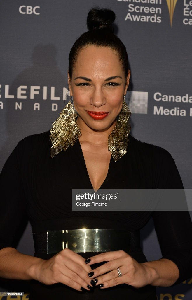 Actress Amanda Brugel attends the 2014 Canadian Screen awards Industry 2at the Sheraton Centre Toronto Hotel on March 5, 2014 in Toronto, Canada.