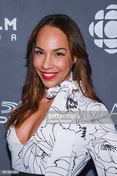 Actress Amanda Brugel attends the 2017 Canadian Screen Awards Press Conference held at the ThorntonSmith Building on January 17 2017 in Toronto Canada
