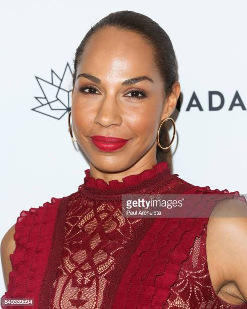Actress Amanda Brugel attends the Canadian Consulate's celebration for the Canadian nominees of the 69th Primetime Emmy Awards at Official Residence...