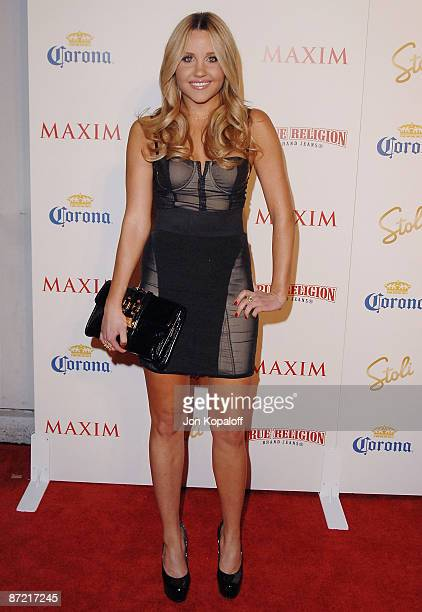 Actress Amanda Bynes arrives at Maxim's 2009 Hot 100 Party at Barker Hangar on May 13 2009 in Santa Monica California