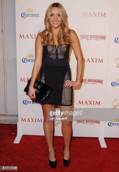 Actress Amanda Bynes arrives at Maxim's 2009 Hot 100 Party at Barker Hangar on May 13 2009 in Santa Monica California