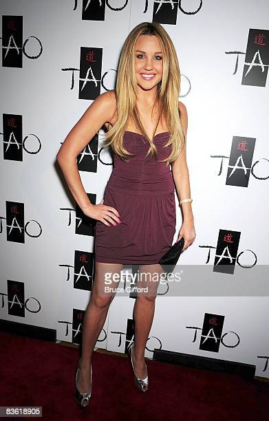 Actress Amanda Bynes arrives at TAO Las Vegas 3 Year Anniversary Celebration inside The Venetian Hotel and Casino on November 08 2008 in Las Vegas...