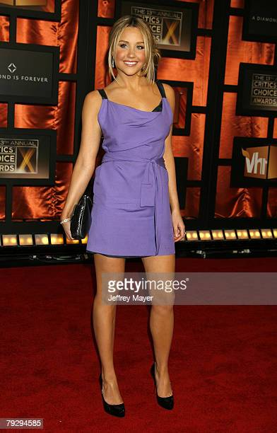 Actress Amanda Bynes arrives at the 13th ANNUAL CRITICS' CHOICE AWARDS at the Santa Monica Civic Auditorium on January 7 2008 in Santa Monica...