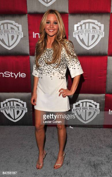 Actress Amanda Bynes arrives at the InStyle/Warner Bros after party for the 66th Annual Golden Globe Awards held at the Beverly Hilton Hotel on...
