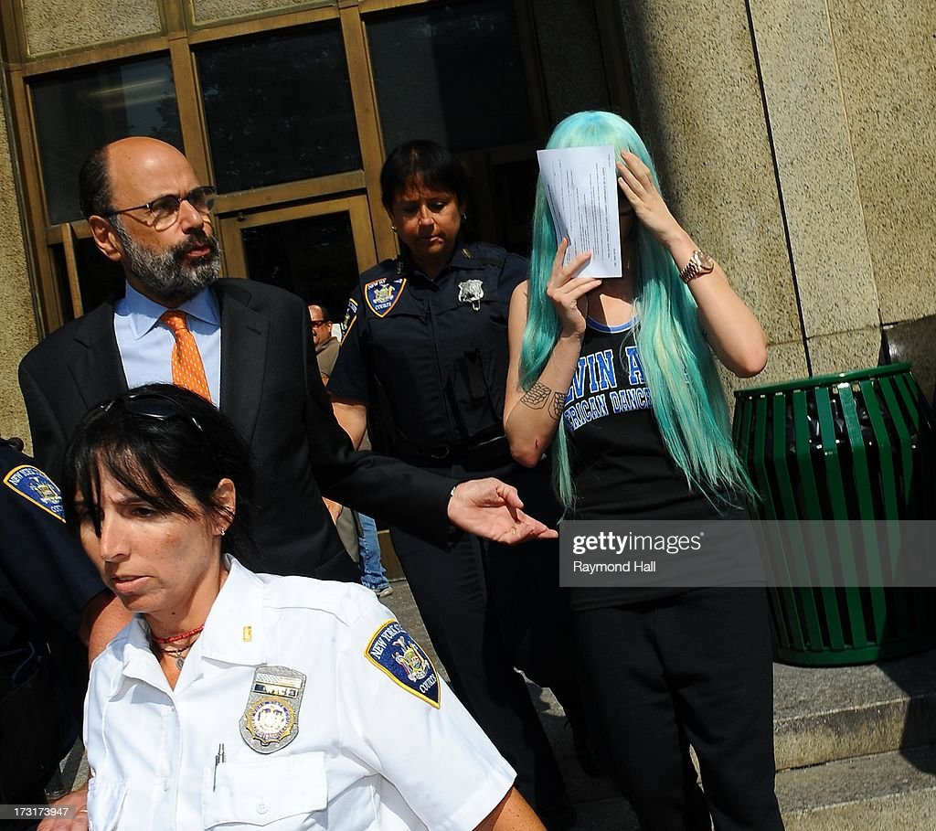 Actress <a gi-track='captionPersonalityLinkClicked' href=/galleries/search?phrase=Amanda+Bynes&family=editorial&specificpeople=201660 ng-click='$event.stopPropagation()'>Amanda Bynes</a> attends an appearance at Manhattan Criminal Court on July 9, 2013 in New York City. Bynes is facing charges of reckless endangerment, tampering with evidence and criminal possession of marijuana in relation to her arrest on May 23, 2013.