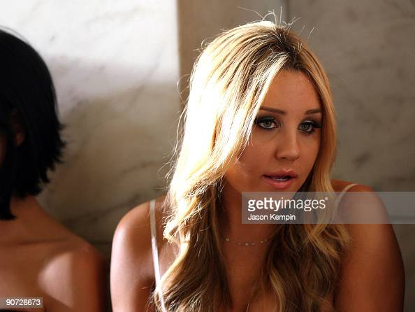 Actress Amanda Bynes attends Jill Stuart Spring 2010 fashion show at The New York Public Library on September 14 2009 in New York New York