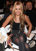 Actress Amanda Bynes attends the Ann Taylor See Now Wear Now runway show at The New York Public Library on September 17 2009 in New York City