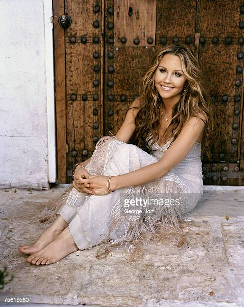 Actress Amanda Bynes is photographed for Cosmo Girl Magazine on April 11 2005 at Studio 1289 in Los Angeles California
