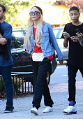 Actress Amanda Bynes is seen with friends in Soho on October 6 2014 in New York City