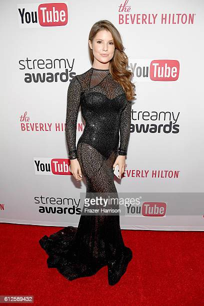 Actress Amanda Cerny attends the 6th annual Streamy Awards hosted by King Bach and live streamed on YouTube at The Beverly Hilton Hotel on October 4...
