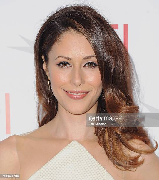 Actress Amanda Crew arrives at the 15th Annual AFI Awards at Four Seasons Hotel Los Angeles at Beverly Hills on January 9 2015 in Beverly Hills...