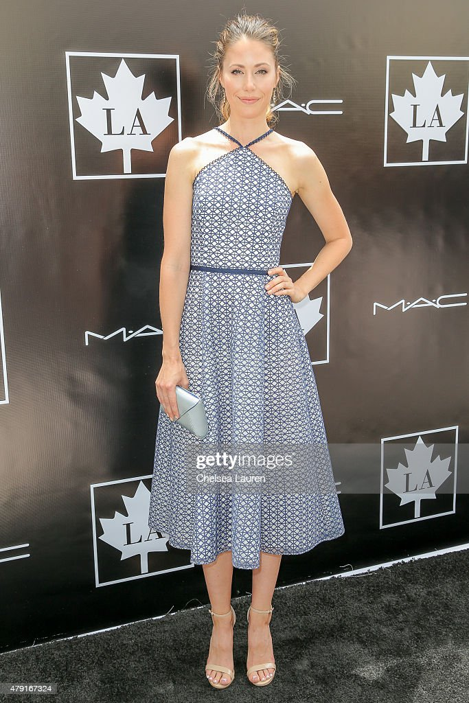 Actress Amanda Crew arrives at the 2015 Golden Maple Awards at SLS Hotel on July 1 2015 in Beverly Hills California