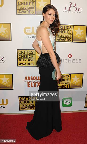 Actress Amanda Crew arrives at the 4th Annual Critics' Choice Television Awards at The Beverly Hilton Hotel on June 19 2014 in Beverly Hills...