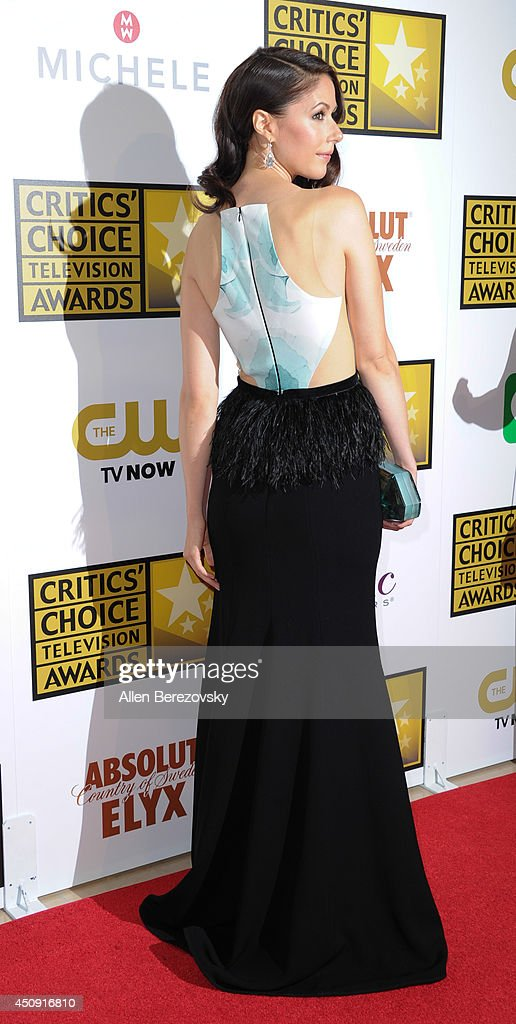 Actress <a gi-track='captionPersonalityLinkClicked' href=/galleries/search?phrase=Amanda+Crew&family=editorial&specificpeople=5505179 ng-click='$event.stopPropagation()'>Amanda Crew</a> arrives at the 4th Annual Critics' Choice Television Awards at The Beverly Hilton Hotel on June 19, 2014 in Beverly Hills, California.