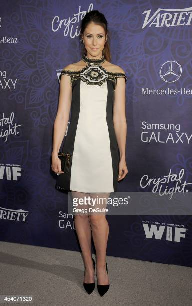Actress Amanda Crew arrives at the Variety And Women In Film Annual PreEmmy Celebration at Gracias Madre on August 23 2014 in West Hollywood...
