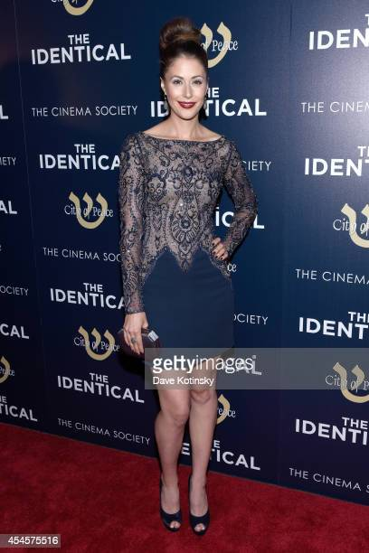 Actress Amanda Crew attends City Of Peace Films With The Cinema Society Host The World Premiere Of 'The Identical' at SVA Theater on September 3 2014...