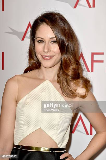 Actress Amanda Crew attends the 15th Annual AFI Awards at Four Seasons Hotel Los Angeles at Beverly Hills on January 9 2015 in Beverly Hills...