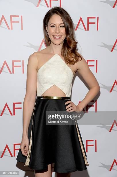 Actress Amanda Crew attends the 15th Annual AFI Awards Luncheon at Four Seasons Hotel Los Angeles at Beverly Hills on January 9 2015 in Beverly Hills...