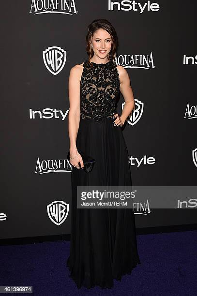 Actress Amanda Crew attends the 2015 InStyle And Warner Bros 72nd Annual Golden Globe Awards PostParty at The Beverly Hilton Hotel on January 11 2015...