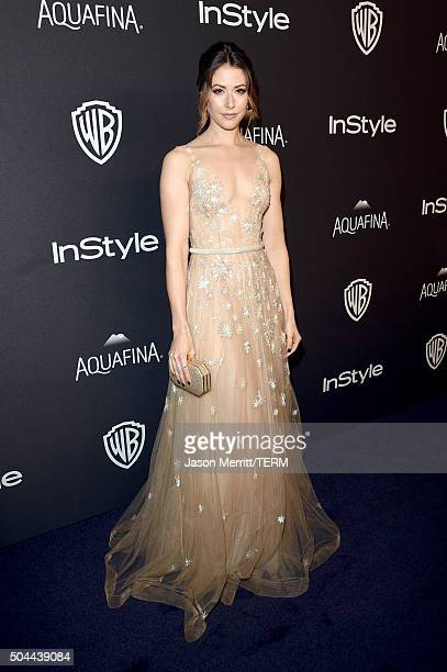 Actress Amanda Crew attends The 2016 InStyle And Warner Bros 73rd Annual Golden Globe Awards PostParty at The Beverly Hilton Hotel on January 10 2016...