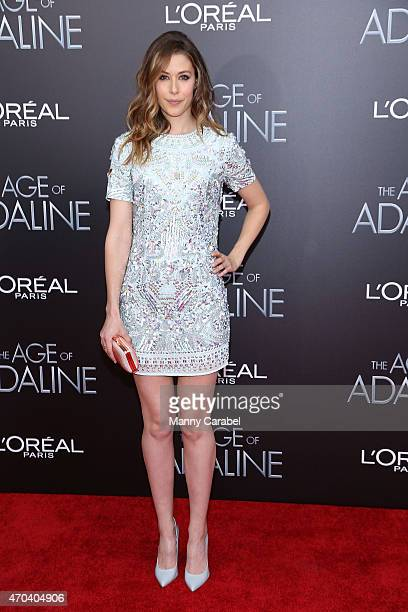 Actress Amanda Crew attends 'The Age of Adaline' premiere at AMC Loews Lincoln Square 13 theater on April 19 2015 in New York City