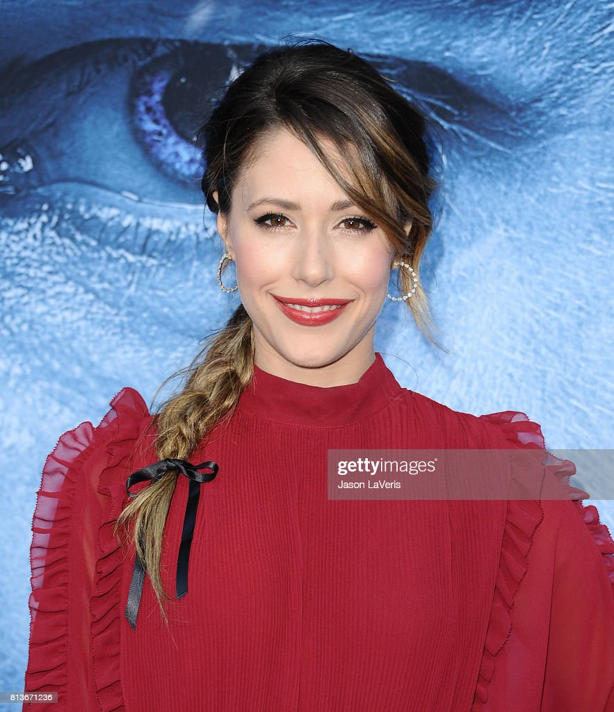 Actress Amanda Crew attends the season 7 premiere of 'Game Of Thrones' at Walt Disney Concert Hall on July 12, 2017 in Los Angeles, California.