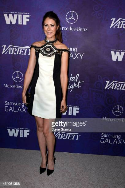 Actress Amanda Crew attends Variety and Women in Film Annual PreEmmy Celebration at Gracias Madre on August 23 2014 in West Hollywood California
