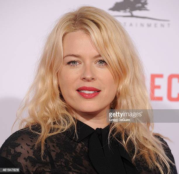 Actress Amanda de Cadenet arrives at the Los Angeles premiere of 'Mortdecai' at TCL Chinese Theatre on January 21 2015 in Hollywood California