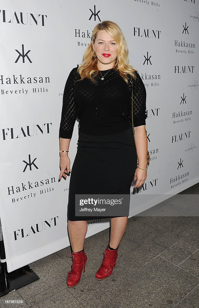 Actress Amanda de Cadenet attends the Flaunt Magazine Issue Party with Selena Gomez And Amanda De Cadenet held at Hakkasan Beverly Hills on November 7, 2013 in Beverly Hills, California.
