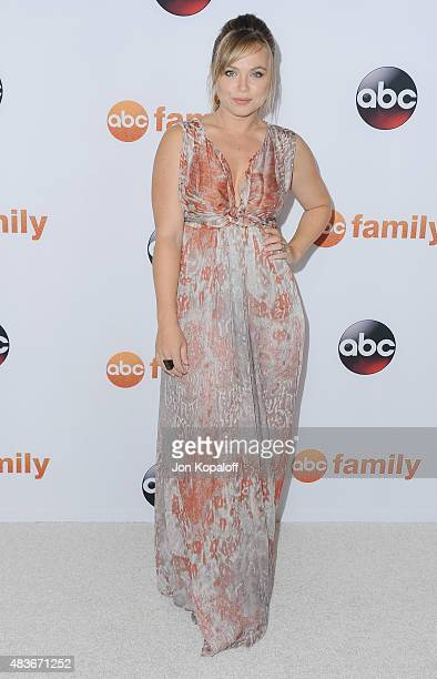 Actress Amanda Fuller arrives at Disney ABC Television Group's 2015 TCA Summer Press Tour at the Beverly Hilton Hotel on August 4 2015 in Beverly...