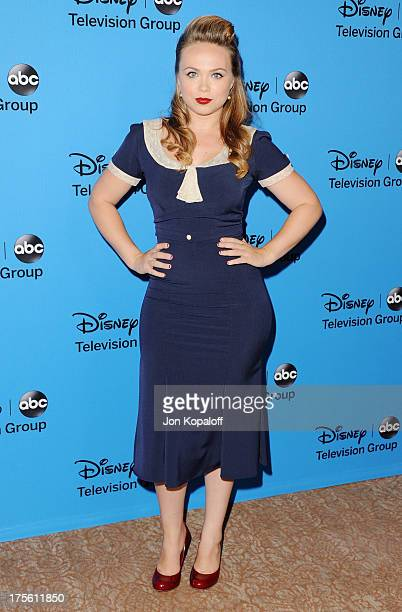 Actress Amanda Fuller arrives at the Disney/ABC Party 2013 Television Critics Association's Summer Press Tour at The Beverly Hilton Hotel on August 4...
