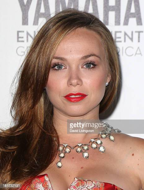 Actress Amanda Fuller attends Heifer International's 'Beyond Hunger A Place at the Table' gala at Montage Beverly Hills on September 19 2013 in...
