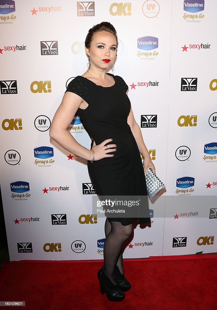 Actress Amanda Fuller attends OK! Magazine's Pre-Oscar party at The Emerson Theatre on February 22, 2013 in Hollywood, California.