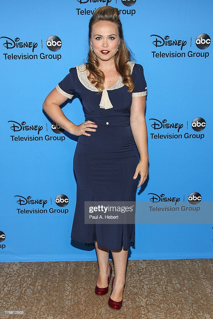 Actress <a gi-track='captionPersonalityLinkClicked' href=/galleries/search?phrase=Amanda+Fuller&family=editorial&specificpeople=4262163 ng-click='$event.stopPropagation()'>Amanda Fuller</a> attends the Disney & ABC Television Group's '2013 Summer TCA Tour' at The Beverly Hilton Hotel on August 4, 2013 in Beverly Hills, California.