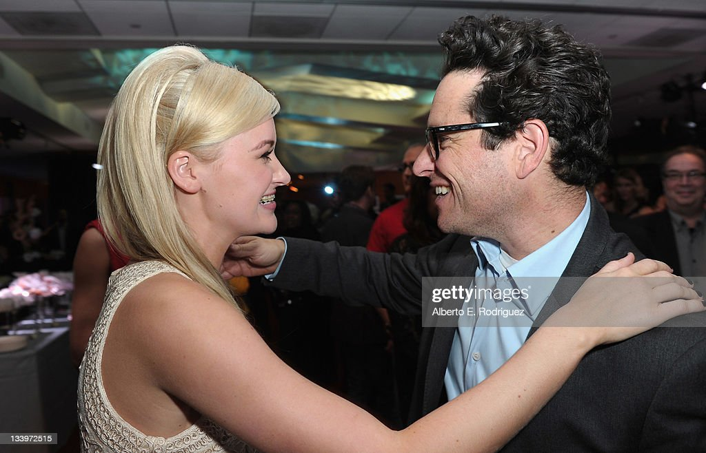 Actress Amanda Michalka and Director/Writer J.J. Abrams attend Paramount Pictures' 'Super 8' Blu-ray and DVD release party at AMPAS Samuel Goldwyn Theater on November 22, 2011 in Beverly Hills, California.