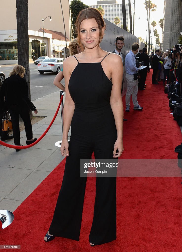 Actress Amanda Michalka arrives at the premiere of 'Blue Jasmine' hosted by AFI & Sony Picture Classics at AMPAS Samuel Goldwyn Theater on July 24, 2013 in Beverly Hills, California.