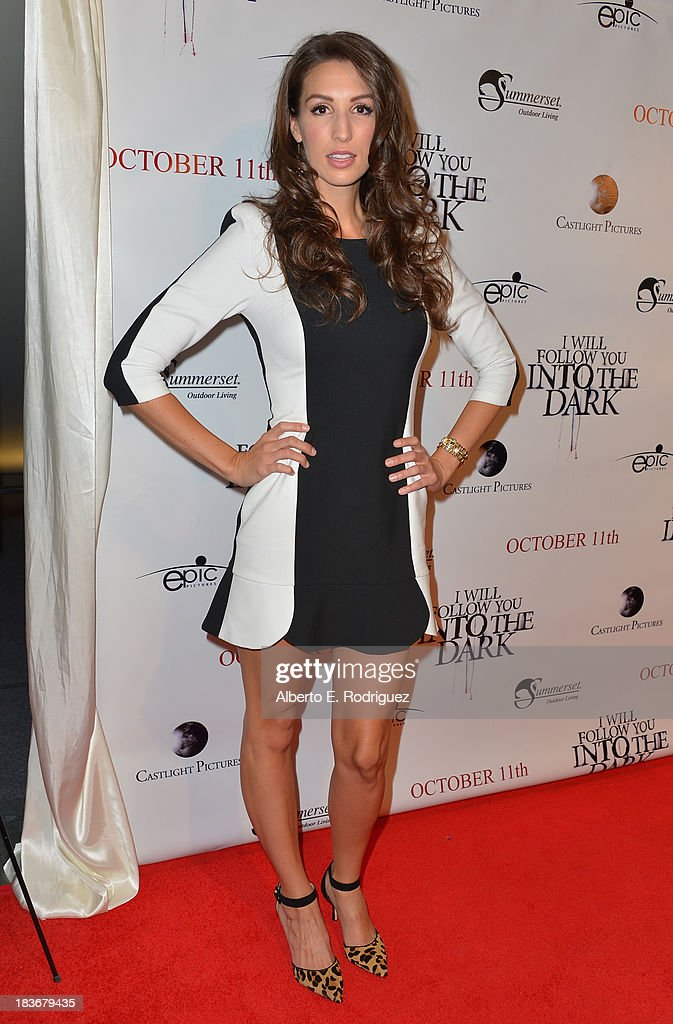 Actress Amanda Musso attends the premiere of Epic Pictures' 'I Will Follow You Into The Dark' at the Landmark Theater on October 8, 2013 in Los Angeles, California.