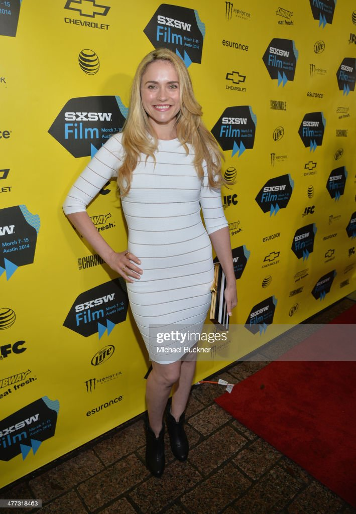 Actress Amanda Noret arrives at the premiere of 'Veronica Mars' during the 2014 SXSW Music, Film + Interactive Festival at the Paramount Theatre on March 8, 2014 in Austin, Texas.
