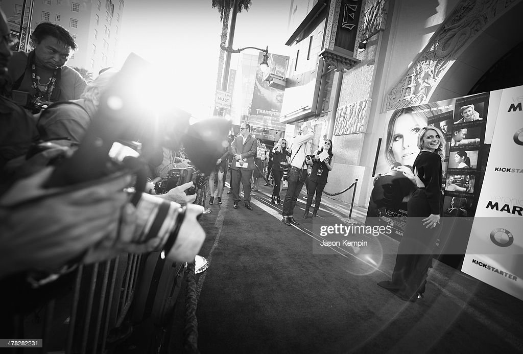 Actress Amanda Noret attends the Los Angeles Premiere Of 'Veronica Mars'at TCL Chinese Theatre on March 12, 2014 in Hollywood, California.
