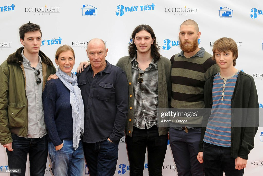 Actress Amanda Pays, actor/director Corbin Bernsen and sons arrive for the the screening of '3 Day Test' held at Downtown Independent Theater on December 8, 2012 in Los Angeles, California.