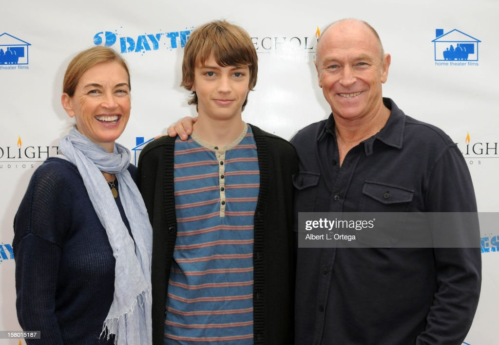 Actress <a gi-track='captionPersonalityLinkClicked' href=/galleries/search?phrase=Amanda+Pays&family=editorial&specificpeople=653961 ng-click='$event.stopPropagation()'>Amanda Pays</a>, son Finley Bernsen and actor/director <a gi-track='captionPersonalityLinkClicked' href=/galleries/search?phrase=Corbin+Bernsen&family=editorial&specificpeople=211428 ng-click='$event.stopPropagation()'>Corbin Bernsen</a> arrive for the Screening Of '3 Day Test' - Arrivals held at Downtown Independent Theater on December 8, 2012 in Los Angeles, California.