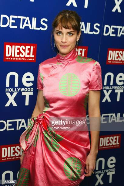 Actress Amanda Peet arrives at Details Magazine's party to celebrate their 'Next Big Thing' issue at the Avalon Hotel on March 14 2003 in Beverly...