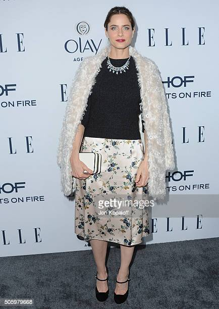 Actress Amanda Peet arrives at ELLE's 6th Annual Women In Television Dinner at Sunset Tower Hotel on January 20 2016 in West Hollywood California