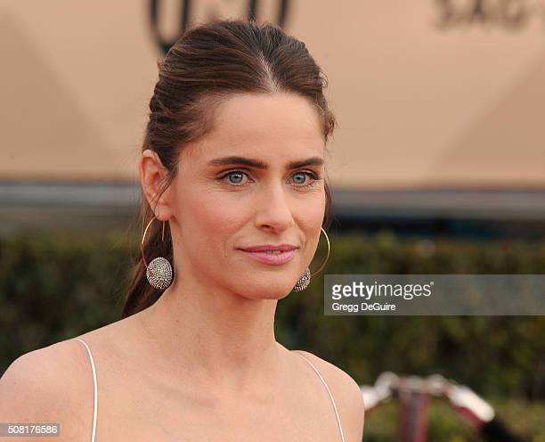 Actress Amanda Peet arrives at the 22nd Annual Screen Actors Guild Awards at The Shrine Auditorium on January 30 2016 in Los Angeles California