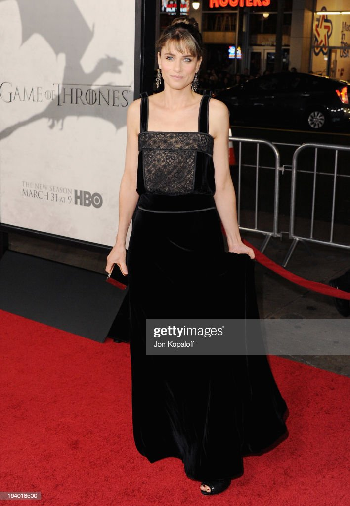 Actress Amanda Peet arrives at the Los Angeles Premiere of HBO's 'Game Of Thrones' Season 3 at TCL Chinese Theatre on March 18, 2013 in Hollywood, California.