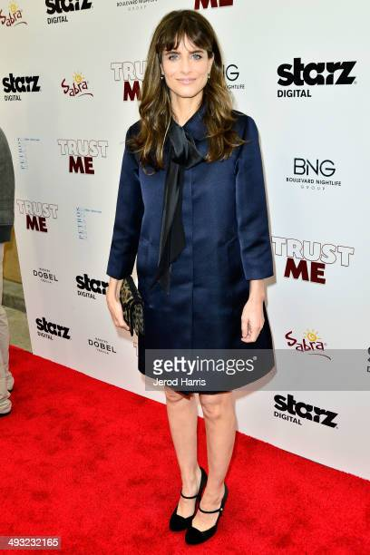 Actress Amanda Peet arrives at the Los Angeles Premiere of 'Trust Me' at the Egyptian Theatre on May 22 2014 in Hollywood California